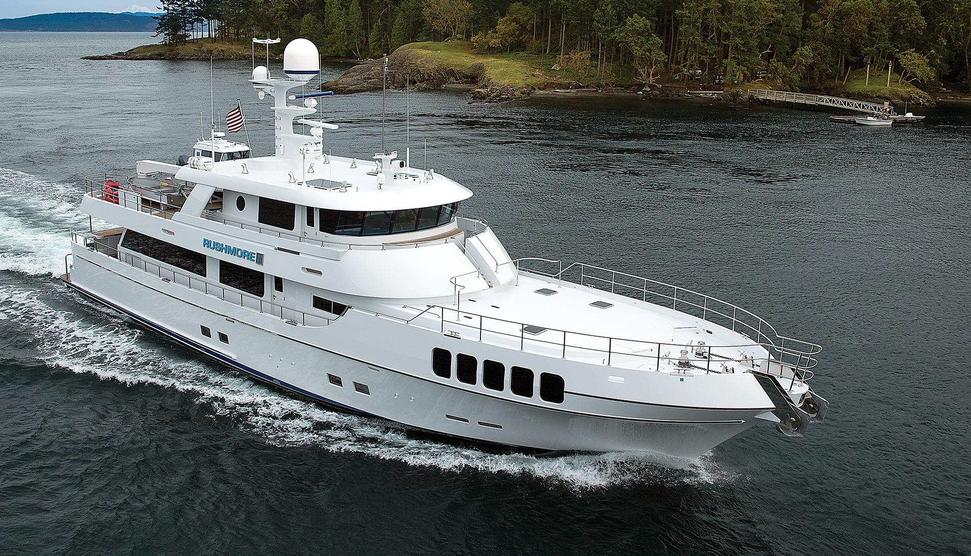 Nordlund 106' Yacht Rushmore Cruising Northwest Passages