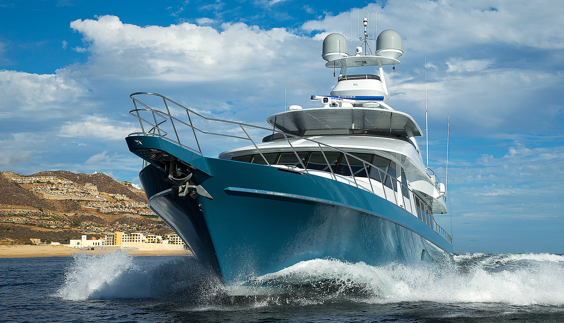 106' Yachtfisher Venture More On Launch Day at the Nordlund Boat Company Yard