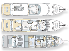 Deck Plans for Nordlund 106' Sport Fishing Yacht Venture More
