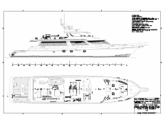 Deck Plans of the 118' Sport Fisher Southern Way Built by Nordlund Boat Company