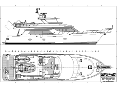 Deck Plans for the 78' Nordlund Built Yacht Shanakee