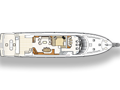 Main Level Deck Plan for 111' Illusion Yacht
