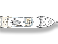 Deck Plan of Top Level for 111' Yacht Illusion by Nordlund