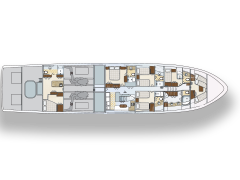 Lower Level Deck Plan for 115' Nordlund Yachtfisher Netto