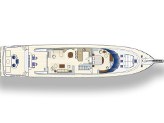Main Level Deck Plan for 115' Nordlund Yachtfisher Netto