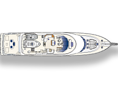 Pilothouse Level Deck Plan for 115' Netto Yachtfisher by Nordlund