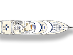 Top Deck Plan for 115' Sportfisher Netto by Nordlund