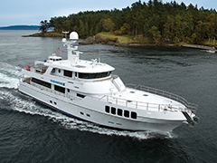 Running Photos of the 106' Yacht Rushmore by Nordlund