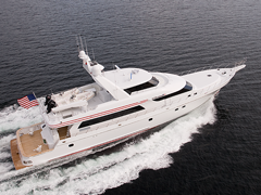 Starboard Aerial View of 110' Nordlund Yachtfisher Victorious