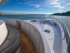 Aft Starboard View of New 115' Expedition Yacht Being Built at Nordlund Boat Company
