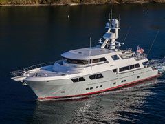 Aerial CAD View of New 115' Expedition Yacht by Nordlund