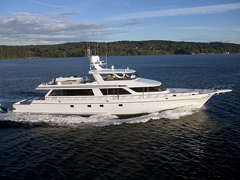 Starboard View of Nordlund's 118' Yachtfisher Southern Way