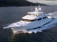 Port Aerial View of 118' Southern Way Sportfisher by Nordlund Boat Company