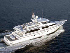 Aerial View of 118' Yacht Southern Way by Nordlund