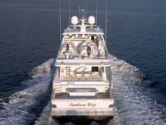Stern View of 118' Southern Way Sportfisher Built by Nordlund Boat Company