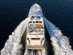 Aft Aerial View of the 86' Yacht Joey