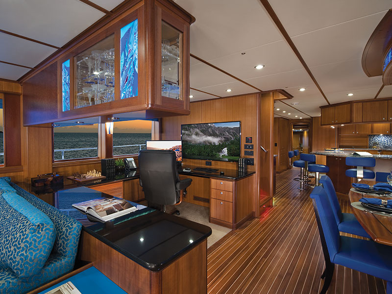 Interior Salon of the 106' Rushmore Yacht by Nordlund
