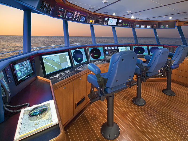 Pilothouse View of Nordlund Yacht