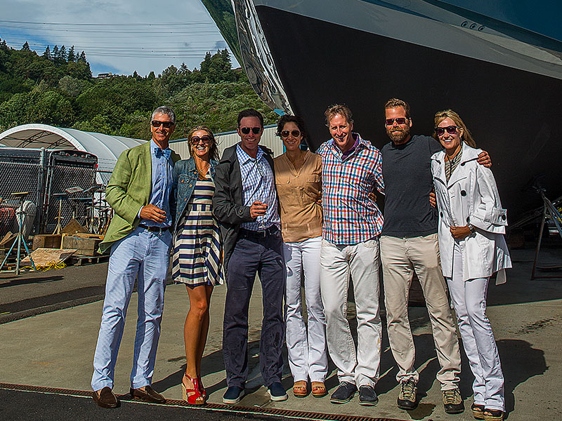 Launch Day for the 106' Venture More Sport Fishing Yacht Built by Nordlund Boat Company